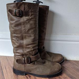Aldo brown leather boots sz 39